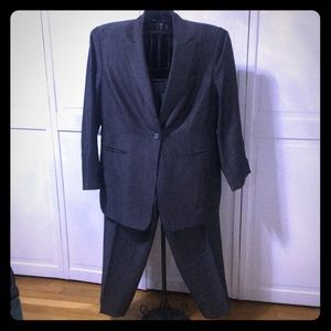 Beautiful grey pinstriped pants suit